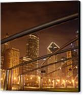 Chicago At Night Canvas Print by Andreas Freund