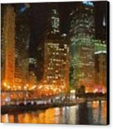 Chicago At Night Canvas Print by Jeff Kolker
