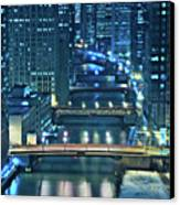 Chicago Bridges Canvas Print by Steve Gadomski
