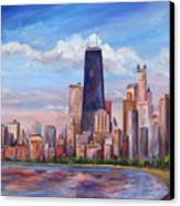 Chicago Skyline - John Hancock Tower Canvas Print by Jeff Pittman