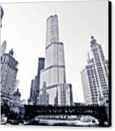 Chicago Trump Tower And Wrigley Building Canvas Print by Paul Velgos
