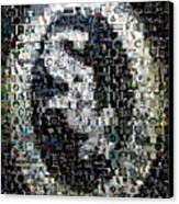 Chicago White Sox Ring Mosaic Canvas Print by Paul Van Scott