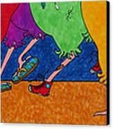 Chicken Walk Canvas Print by Michele Sleight