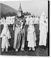 Children In Ku Klux Klan Costumes Pose Canvas Print by Everett