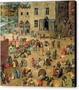 Children's Games Canvas Print by Pieter the Elder Bruegel