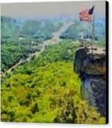 Chimney Rock Nc Canvas Print by Elizabeth Coats