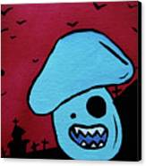 Chomping Zombie Mushroom Canvas Print by Jera Sky