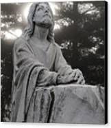 Christ At Prayer Canvas Print by Robert  Suits Jr