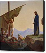 Christ Calling The Apostles James And John Canvas Print by Edward Armitage