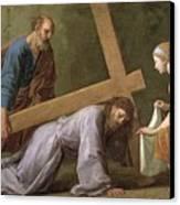 Christ Carrying The Cross Canvas Print by Eustache Le Sueur