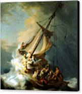 Christ In The Storm Canvas Print by Rembrandt