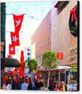 Christmas At Macys In San Francisco . Photoart Canvas Print by Wingsdomain Art and Photography