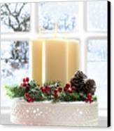 Christmas Candles Display Canvas Print by Amanda Elwell
