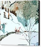 Christmas Crisp Canvas Print by Mindy Newman