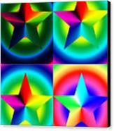 Chromatic Star Quartet With Ring Gradients Canvas Print by Eric Edelman