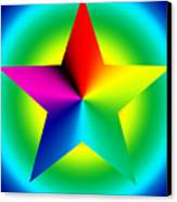 Chromatic Star With Ring Gradient Canvas Print by Eric Edelman
