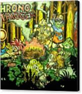 Chrono Trigger Campfire Canvas Print by Paul Tokach