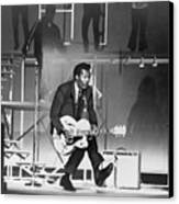 Chuck Berry B. 1926 On Stage, Playing Canvas Print by Everett