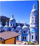 Church In Banos Ecuador Canvas Print by Al Bourassa