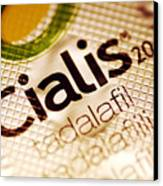 Cialis Packaging Canvas Print by Pasieka
