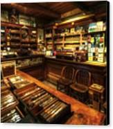 Cigar Shop Canvas Print by Yhun Suarez