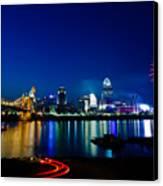 Cincinnati Boom Canvas Print by Keith Allen