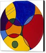 Circles Abstract 1 Canvas Print by Patty Vicknair