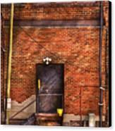 City - Door - The Back Door  Canvas Print by Mike Savad