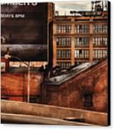 City - Ny - New York History Canvas Print by Mike Savad