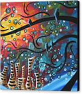 City By The Sea By Madart Canvas Print by Megan Duncanson