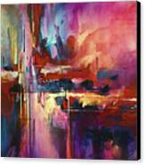 'city Of Fire' Canvas Print by Michael Lang