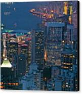 Cityscape From Victoria Peak Canvas Print by Sami Sarkis