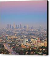 Cityscape Of Los Angeles Canvas Print by Eric Lo
