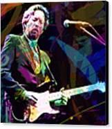Clapton Live Canvas Print by David Lloyd Glover
