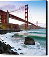 Classic Golden Gate Bridge Canvas Print by Photo by Alex Zyuzikov