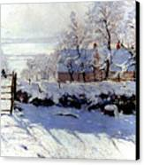 Claude Monet: The Magpie Canvas Print by Granger