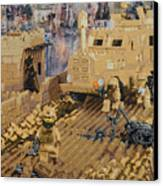 Clearing The Road- Kandahar Province Afghanistan Canvas Print by Josh Bernstein