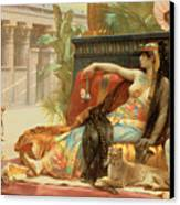 Cleopatra Testing Poisons On Those Condemned To Death Canvas Print by Alexandre Cabanel