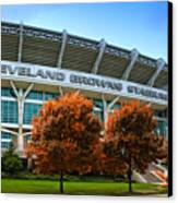 Cleveland Browns Stadium Canvas Print by Kenneth Krolikowski