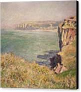 Cliff At Varengeville Canvas Print by Claude Monet