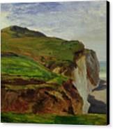 Cliffs Canvas Print by Louis Eugene Gabriel Isabey