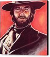 Clint Eastwood Canvas Print by Anastasis  Anastasi