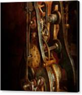 Clockmaker - Careful I Bite Canvas Print by Mike Savad