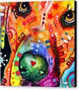 Close Up Lab Warpaint Canvas Print by Dean Russo