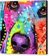 Closeup Labrador Canvas Print by Dean Russo