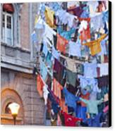 Clothes In The Street Canvas Print by Andre Goncalves