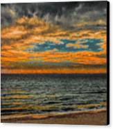 Cloudy Sunrise Canvas Print by Dave Bosse