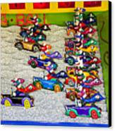Clown Car Racing Game Canvas Print by Garry Gay
