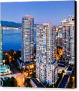 Coal Harbour In Vancouver Canvas Print by Alexis Birkill