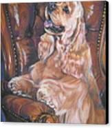 Cocker Spaniel On Chair Canvas Print by Lee Ann Shepard